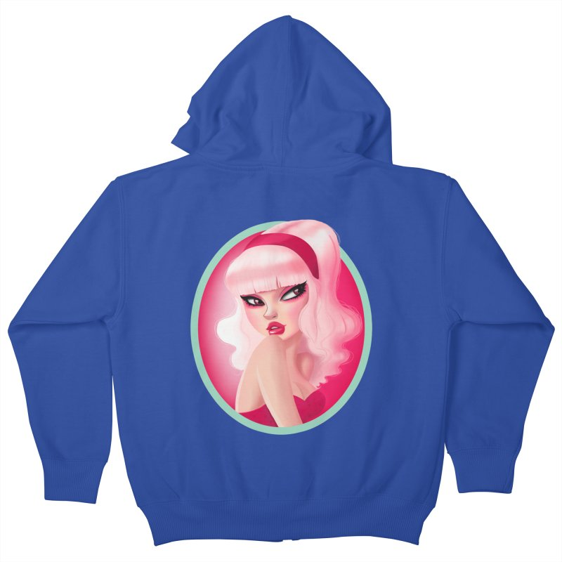 Miss Kandy Floss Kids Zip-Up Hoody by Pinup Bombshells Artist Shop
