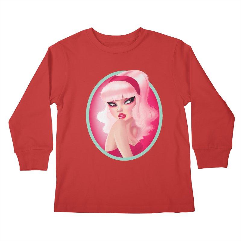 Miss Kandy Floss Kids Longsleeve T-Shirt by Pinup Bombshells Artist Shop
