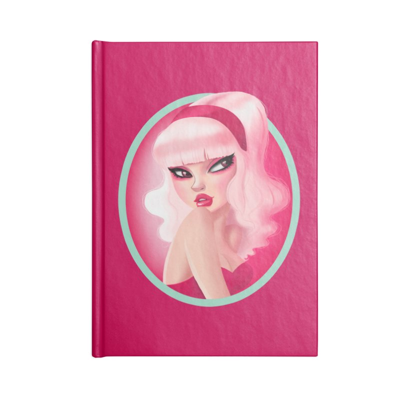 Miss Kandy Floss Accessories Notebook by Pinup Bombshells Artist Shop