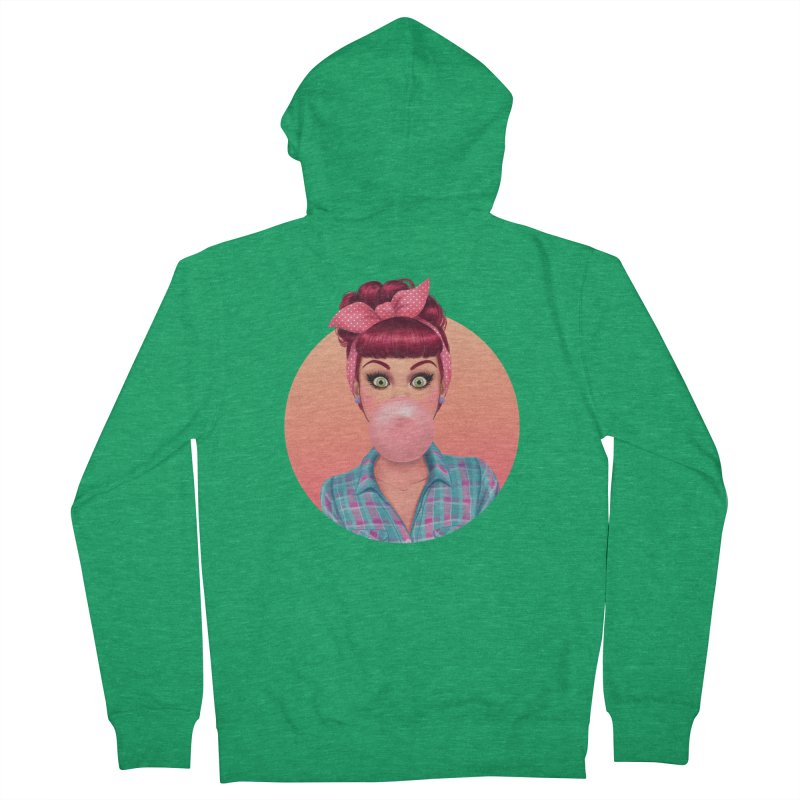 Bex Women's Zip-Up Hoody by Pinup Bombshells Artist Shop
