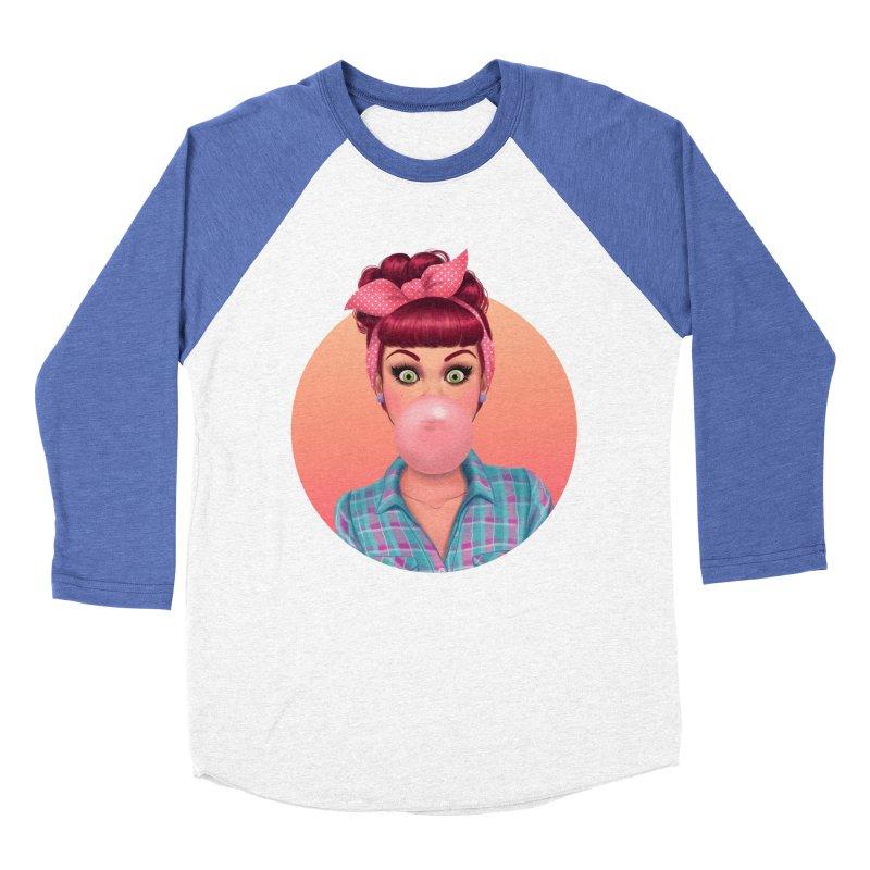 Bex Women's Baseball Triblend T-Shirt by Pinup Bombshells Artist Shop
