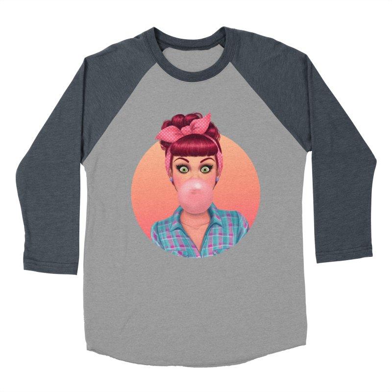 Bex Men's Baseball Triblend T-Shirt by Pinup Bombshells Artist Shop