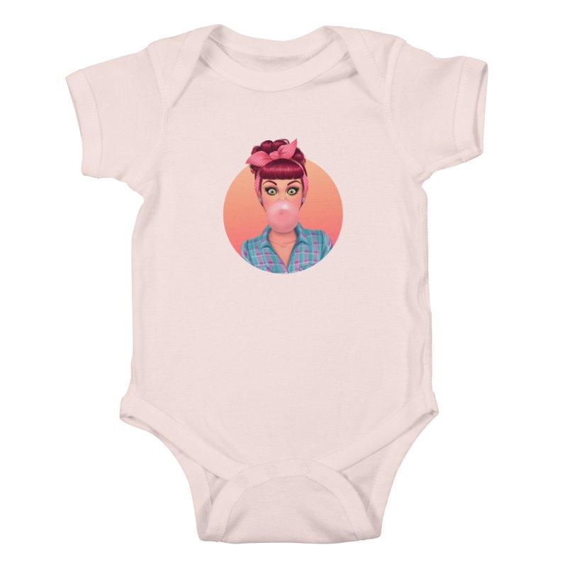 Bex Kids Baby Bodysuit by Pinup Bombshells Artist Shop