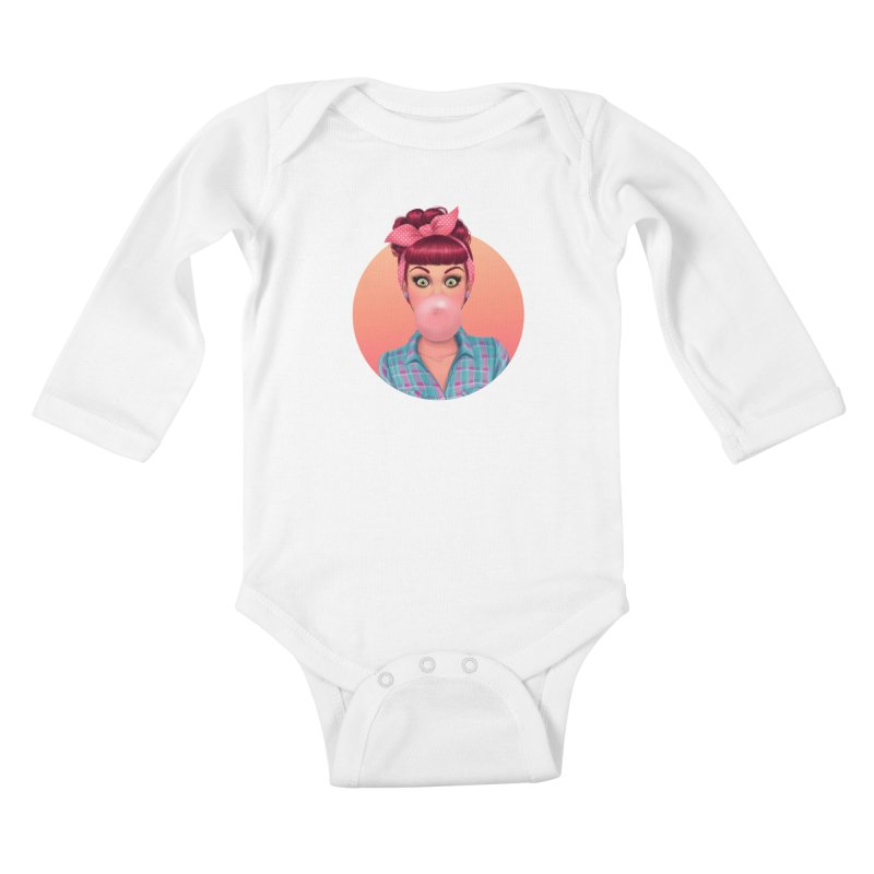 Bex Kids Baby Longsleeve Bodysuit by Pinup Bombshells Artist Shop
