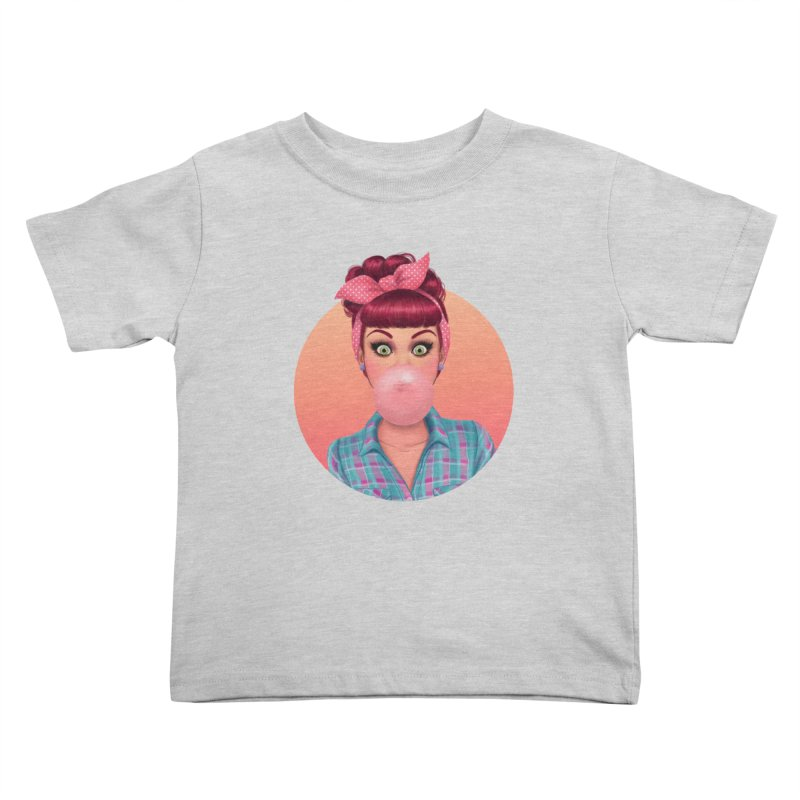 Bex Kids Toddler T-Shirt by Pinup Bombshells Artist Shop