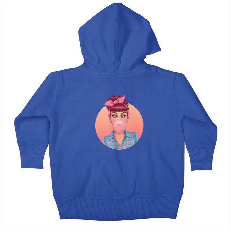Bex Kids Baby Zip-Up Hoody by Pinup Bombshells Artist Shop