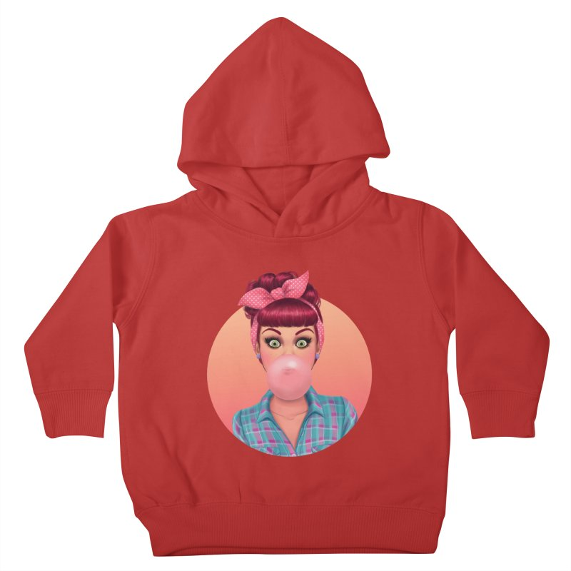 Bex Kids Toddler Pullover Hoody by Pinup Bombshells Artist Shop