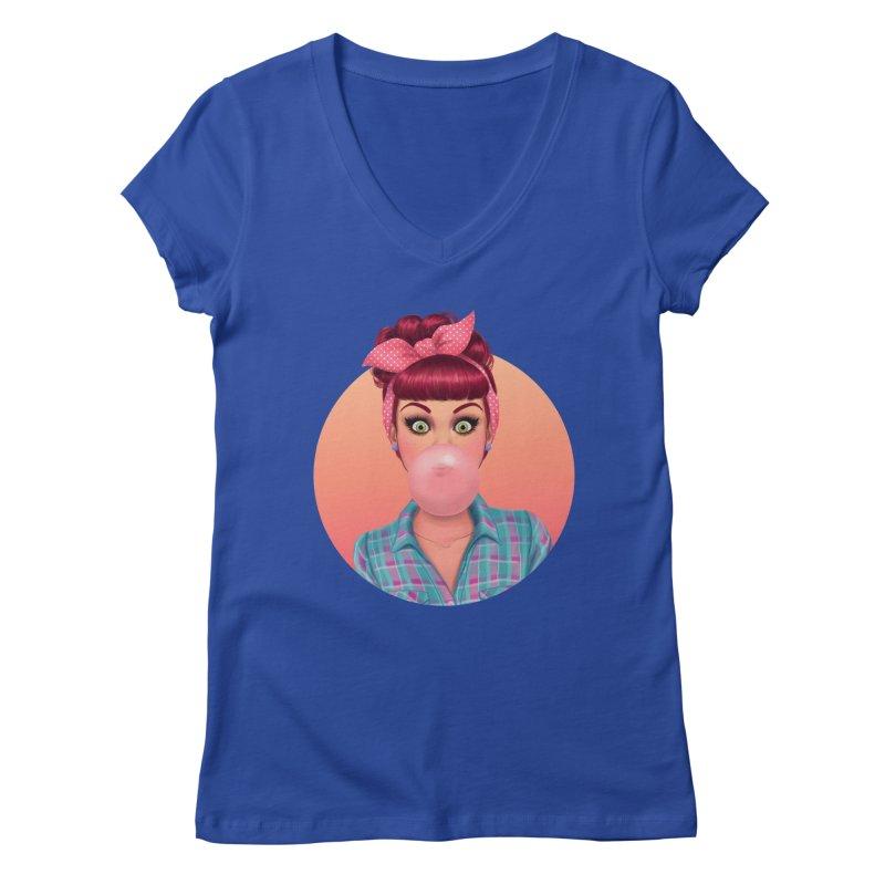 Bex Women's V-Neck by Pinup Bombshells Artist Shop