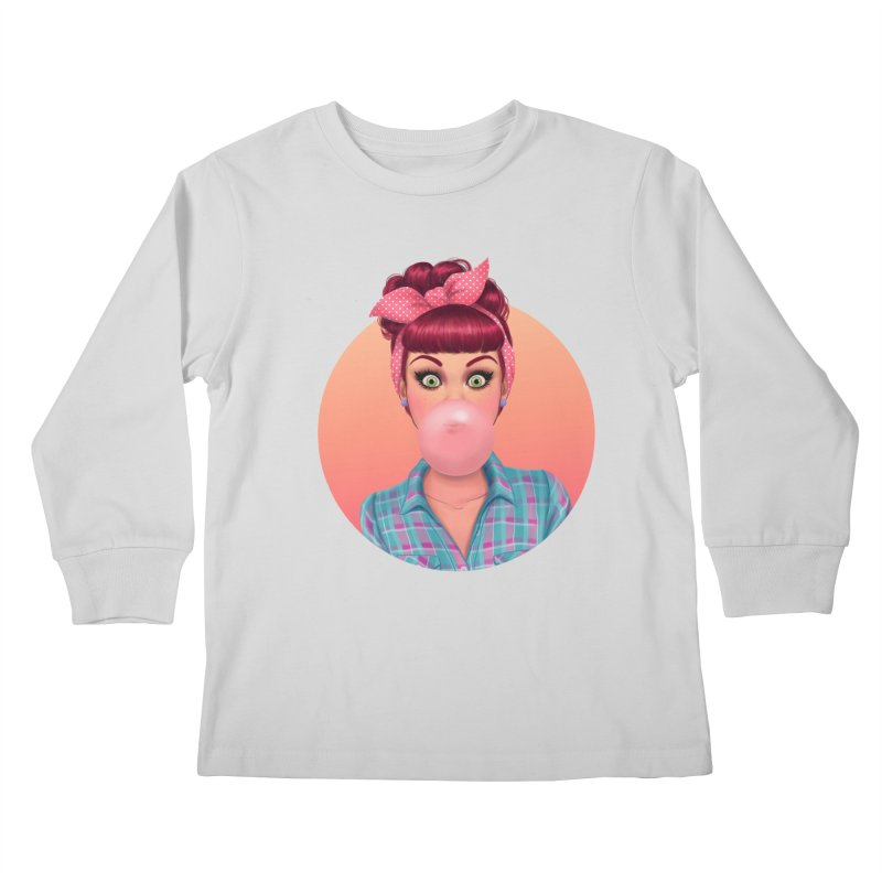 Bex Kids Longsleeve T-Shirt by Pinup Bombshells Artist Shop