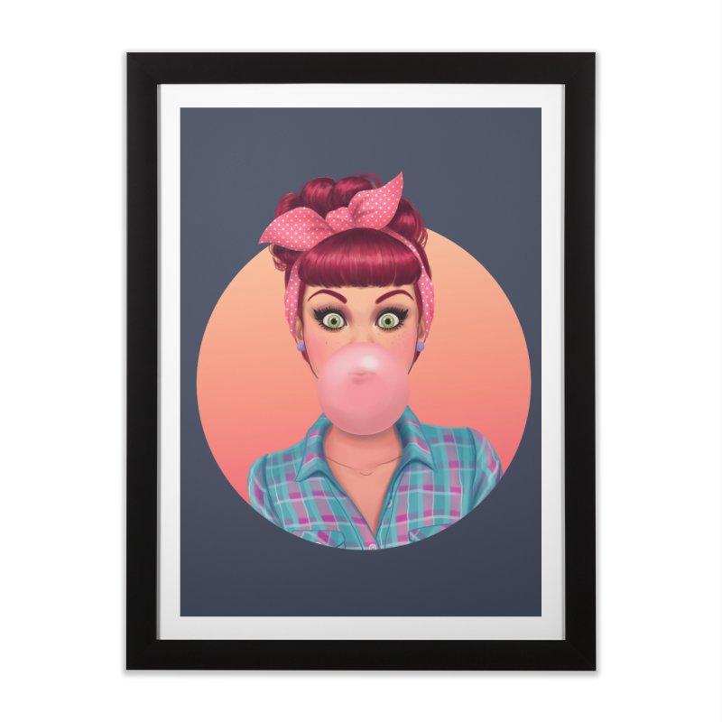 Bex Home Framed Fine Art Print by Pinup Bombshells Artist Shop