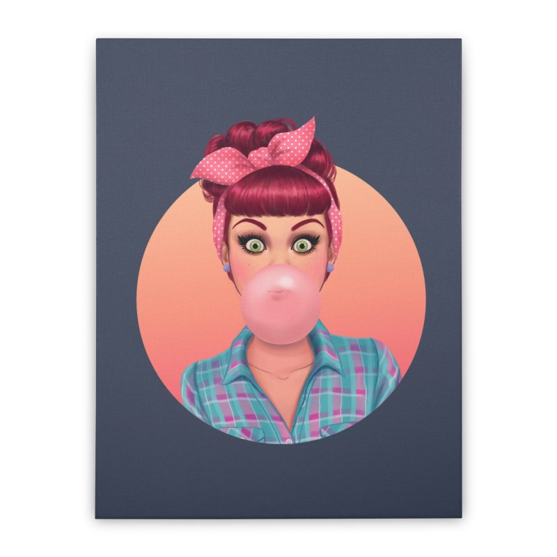 Bex Home Stretched Canvas by Pinup Bombshells Artist Shop