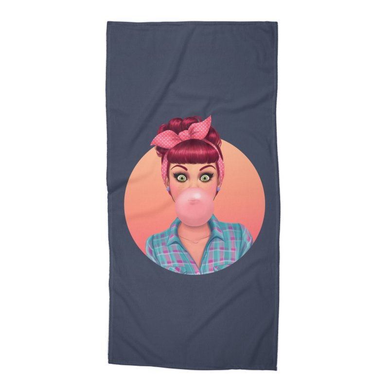 Bex Accessories Beach Towel by Pinup Bombshells Artist Shop