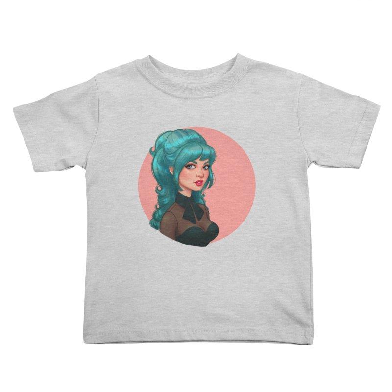 Bardot Vibes Kids Toddler T-Shirt by Pinup Bombshells Artist Shop