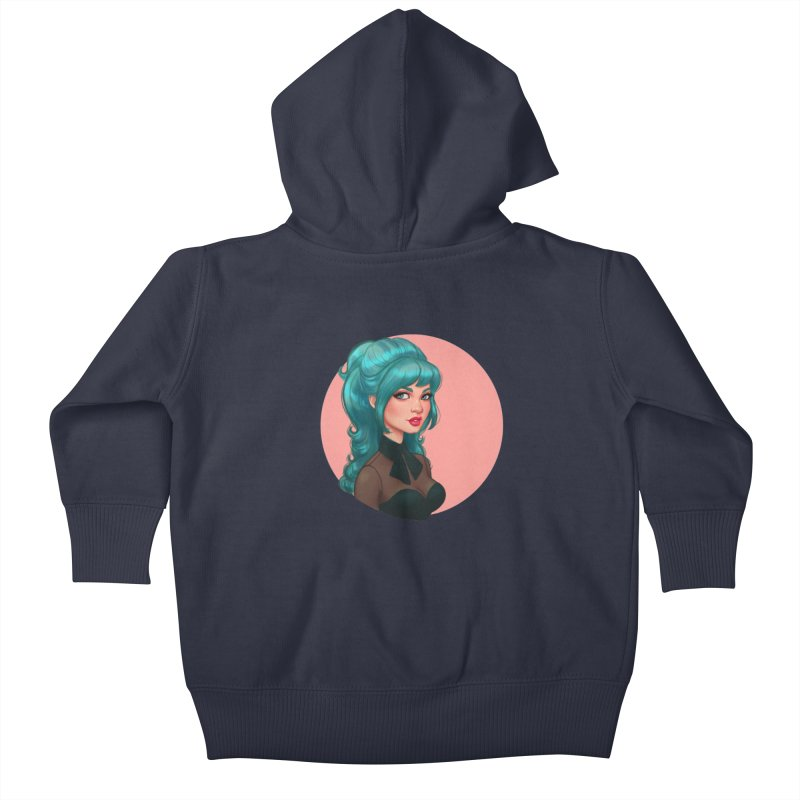Bardot Vibes Kids Baby Zip-Up Hoody by Pinup Bombshells Artist Shop