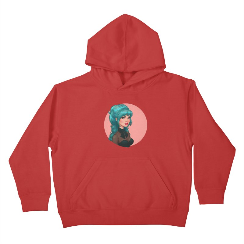 Bardot Vibes Kids Pullover Hoody by Pinup Bombshells Artist Shop