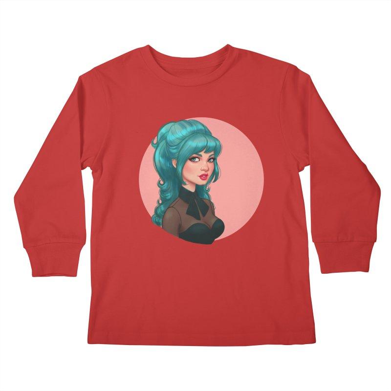 Bardot Vibes Kids Longsleeve T-Shirt by Pinup Bombshells Artist Shop