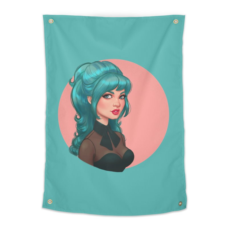 Bardot Vibes Home Tapestry by Pinup Bombshells Artist Shop