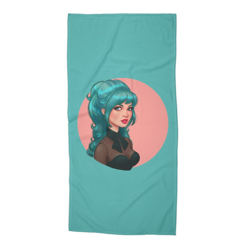Bardot Vibes Accessories Beach Towel by Pinup Bombshells Artist Shop