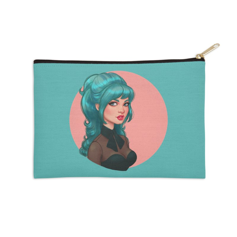 Bardot Vibes Accessories Zip Pouch by Pinup Bombshells Artist Shop