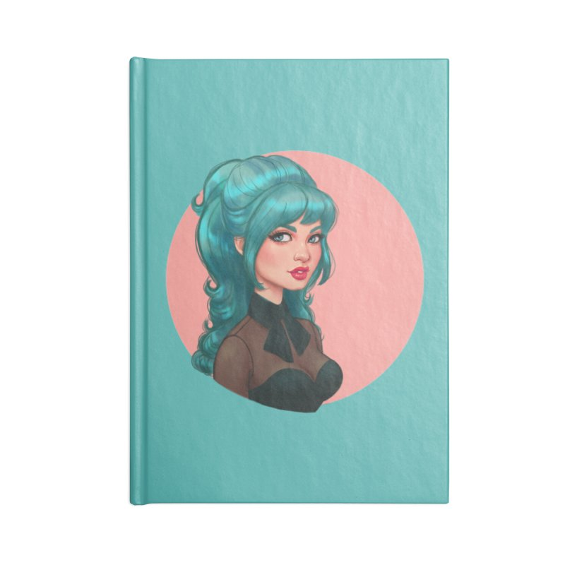 Bardot Vibes Accessories Notebook by Pinup Bombshells Artist Shop