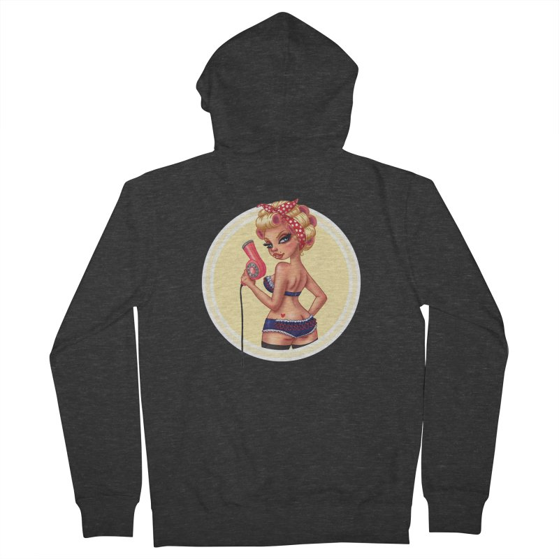 Alexis Dean Men's Zip-Up Hoody by Pinup Bombshells Artist Shop