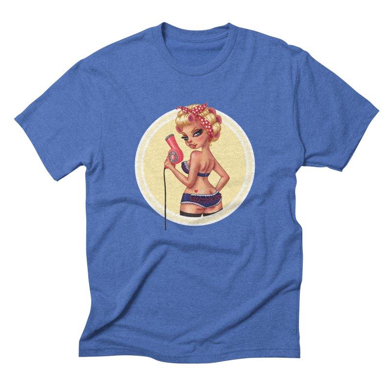 Alexis Dean Men's Triblend T-Shirt by Pinup Bombshells Artist Shop