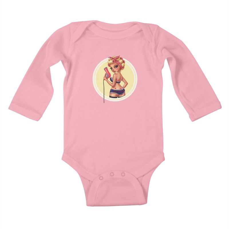 Alexis Dean Kids Baby Longsleeve Bodysuit by Pinup Bombshells Artist Shop