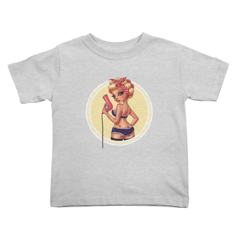 Alexis Dean Kids Toddler T-Shirt by Pinup Bombshells Artist Shop