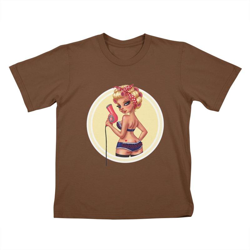 Alexis Dean Kids T-shirt by Pinup Bombshells Artist Shop
