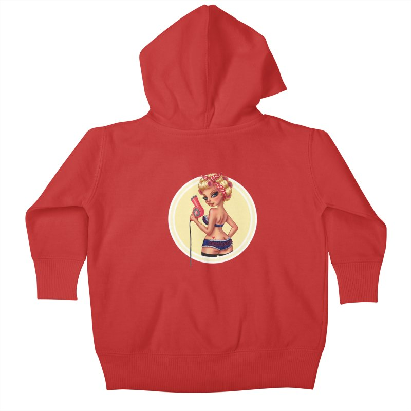 Alexis Dean Kids Baby Zip-Up Hoody by Pinup Bombshells Artist Shop