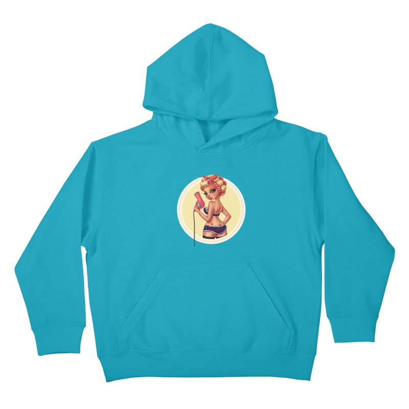 Alexis Dean Kids Pullover Hoody by Pinup Bombshells Artist Shop