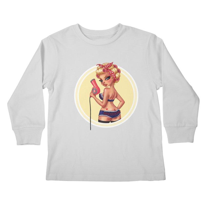 Alexis Dean Kids Longsleeve T-Shirt by Pinup Bombshells Artist Shop