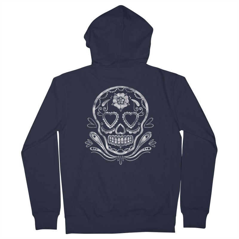 Sugar Skull Women's Zip-Up Hoody by Pinup Bombshells Artist Shop