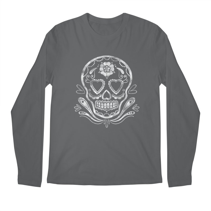 Sugar Skull Men's Longsleeve T-Shirt by Pinup Bombshells Artist Shop
