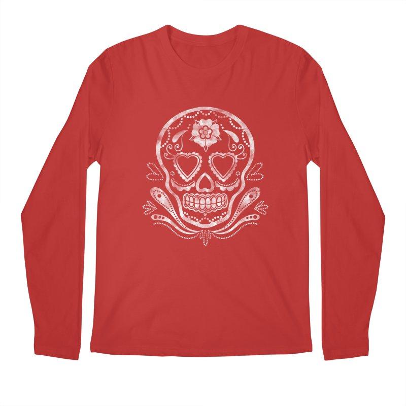 Sugar Skull Men's Longsleeve T-Shirt by Pinup Bombshells Artist Shop