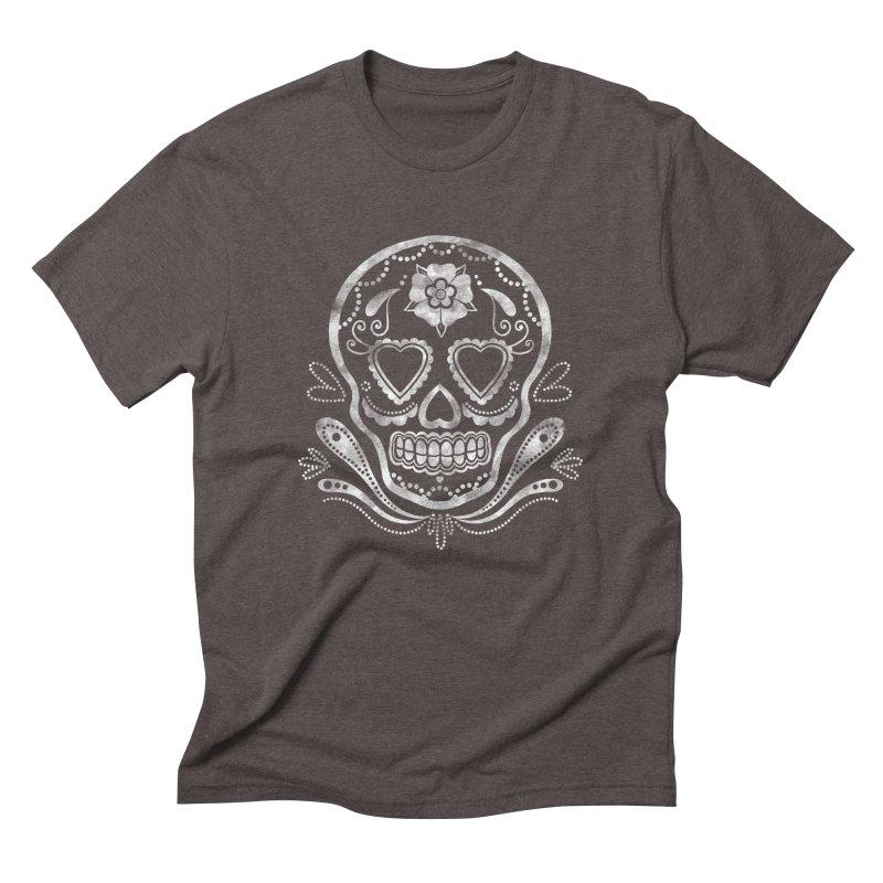 Sugar Skull Men's Triblend T-Shirt by Pinup Bombshells Artist Shop