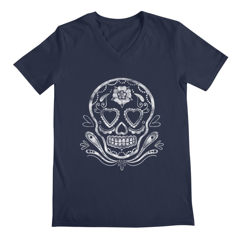 Sugar Skull Men's V-Neck by Pinup Bombshells Artist Shop