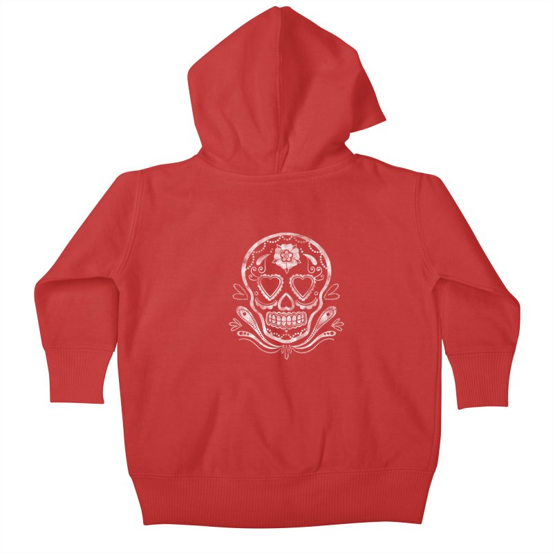 Sugar Skull Kids Baby Zip-Up Hoody by Pinup Bombshells Artist Shop