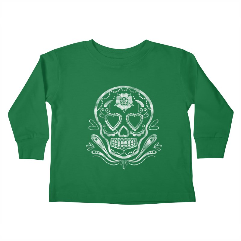 Sugar Skull Kids Toddler Longsleeve T-Shirt by Pinup Bombshells Artist Shop
