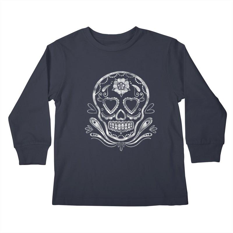 Sugar Skull Kids Longsleeve T-Shirt by Pinup Bombshells Artist Shop