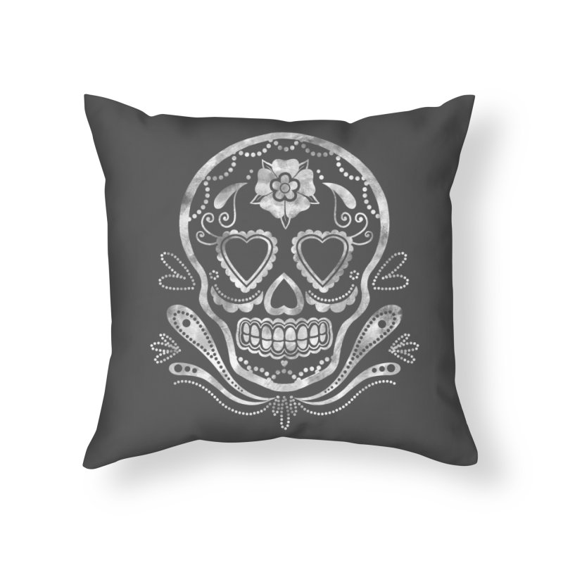 Sugar Skull Home Throw Pillow by Pinup Bombshells Artist Shop