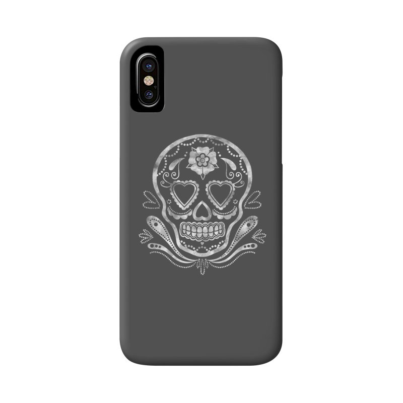 Sugar Skull Accessories Phone Case by Pinup Bombshells Artist Shop