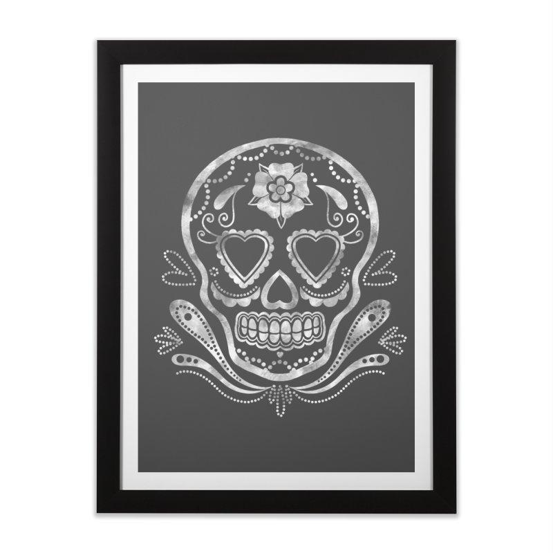 Sugar Skull Home Framed Fine Art Print by Pinup Bombshells Artist Shop