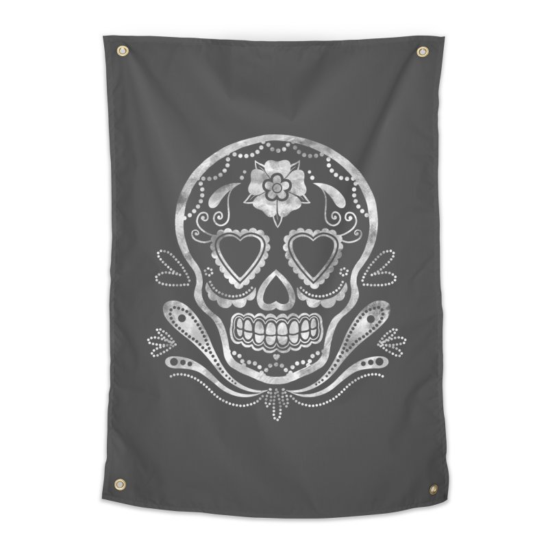 Sugar Skull Home Tapestry by Pinup Bombshells Artist Shop