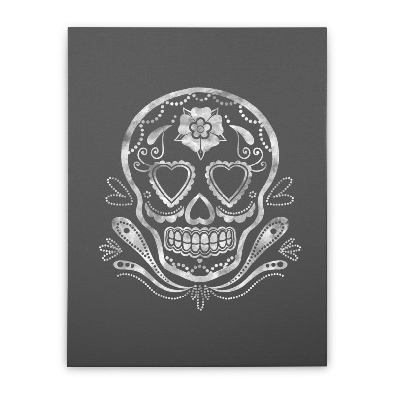 Sugar Skull Home Stretched Canvas by Pinup Bombshells Artist Shop