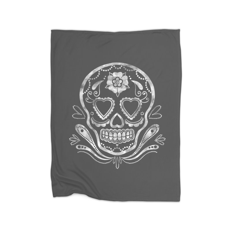 Sugar Skull Home Blanket by Pinup Bombshells Artist Shop