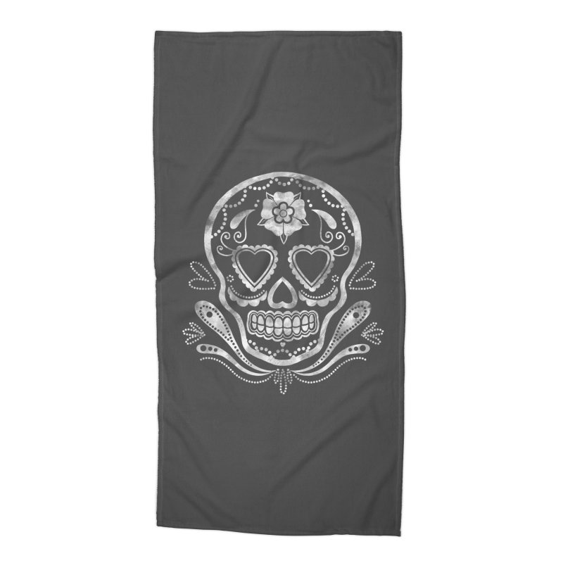 Sugar Skull Accessories Beach Towel by Pinup Bombshells Artist Shop