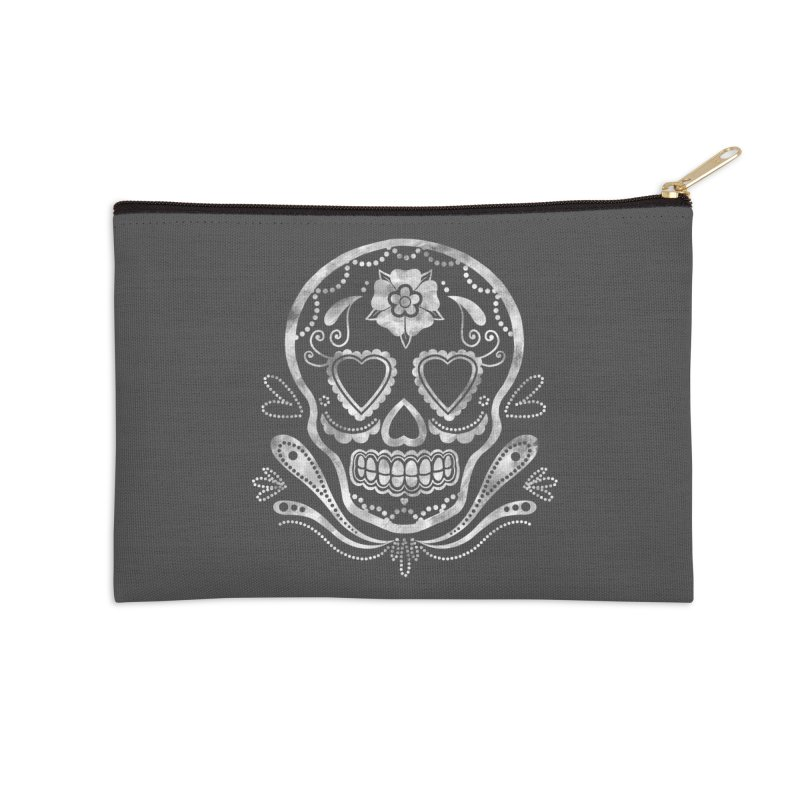 Sugar Skull Accessories Zip Pouch by Pinup Bombshells Artist Shop