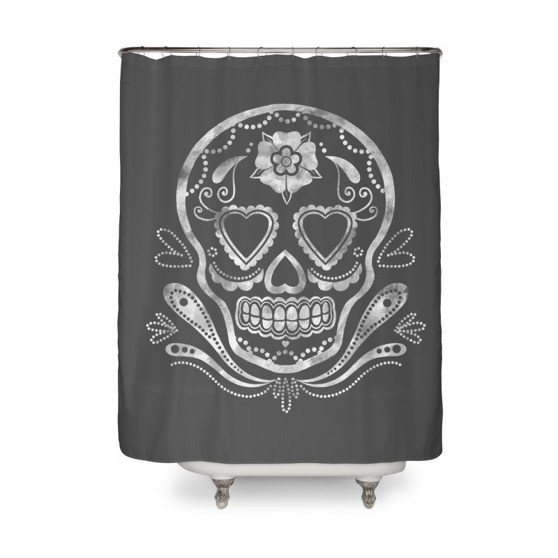 Sugar Skull Home Shower Curtain by Pinup Bombshells Artist Shop