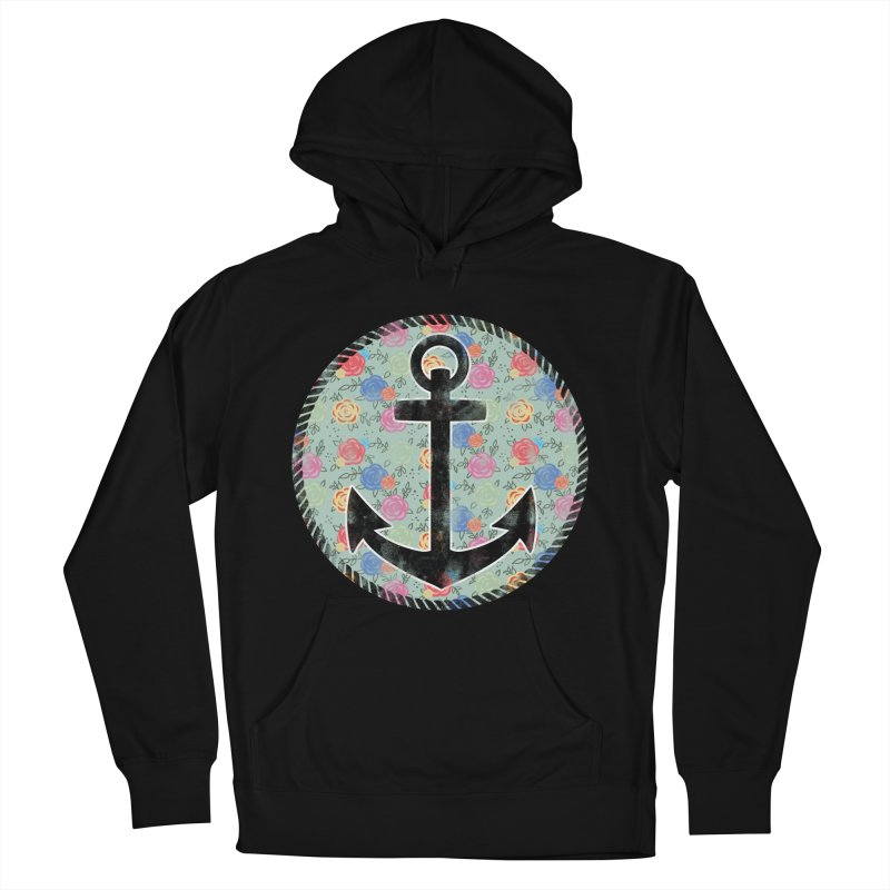 Anchor on Flowers Women's Pullover Hoody by Pinup Bombshells Artist Shop